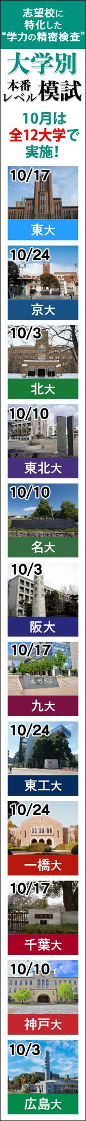 大学別本番レベル模試(右)